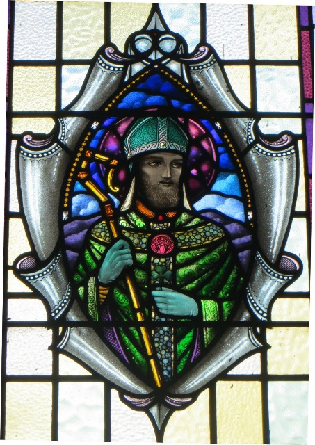 Stained Glass Window depicting St. Patrick